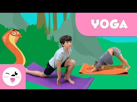 sun salutations  yoga with animals  yoga for kids  upfind
